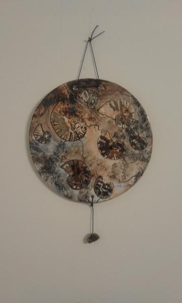 Wandplatte Ammonit 42€